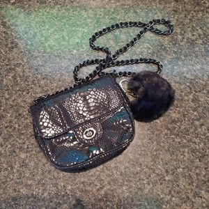 The Limited Snake Skin Crossbody Chain Purse